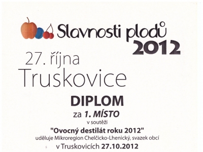 2012 Slivovice